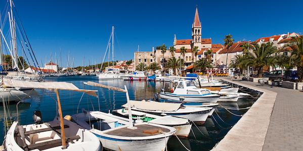 Hafen von Milna, Kroatien